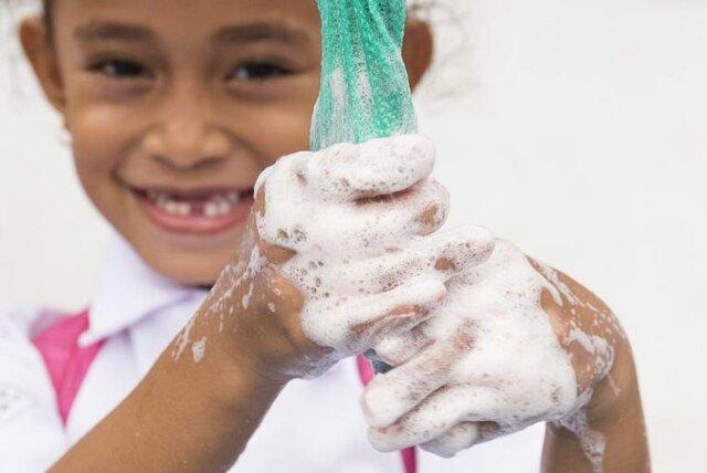 شستن دست ها در کودکان برای پیشگیری از ابتلا به کرونا دلتا